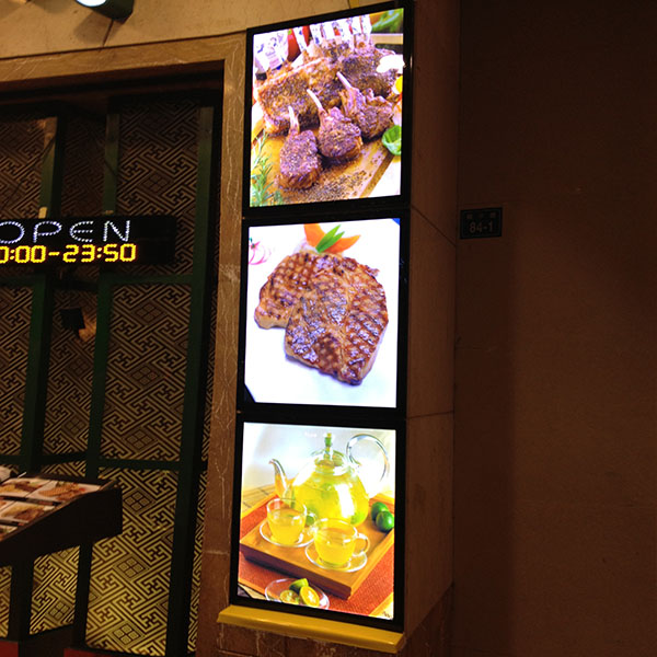 menu board display for led light box advertising with illuminated menu