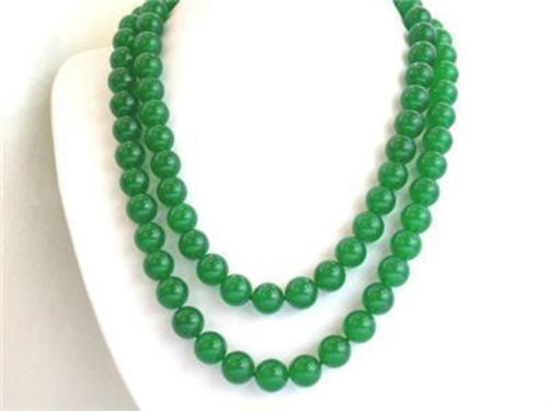 """2015 New Free shipping Nice Elegant Long 35"""" 10mm green jade round beads jaspers Necklace Jewelry making Wholesale and retail(China (Mainland))"""