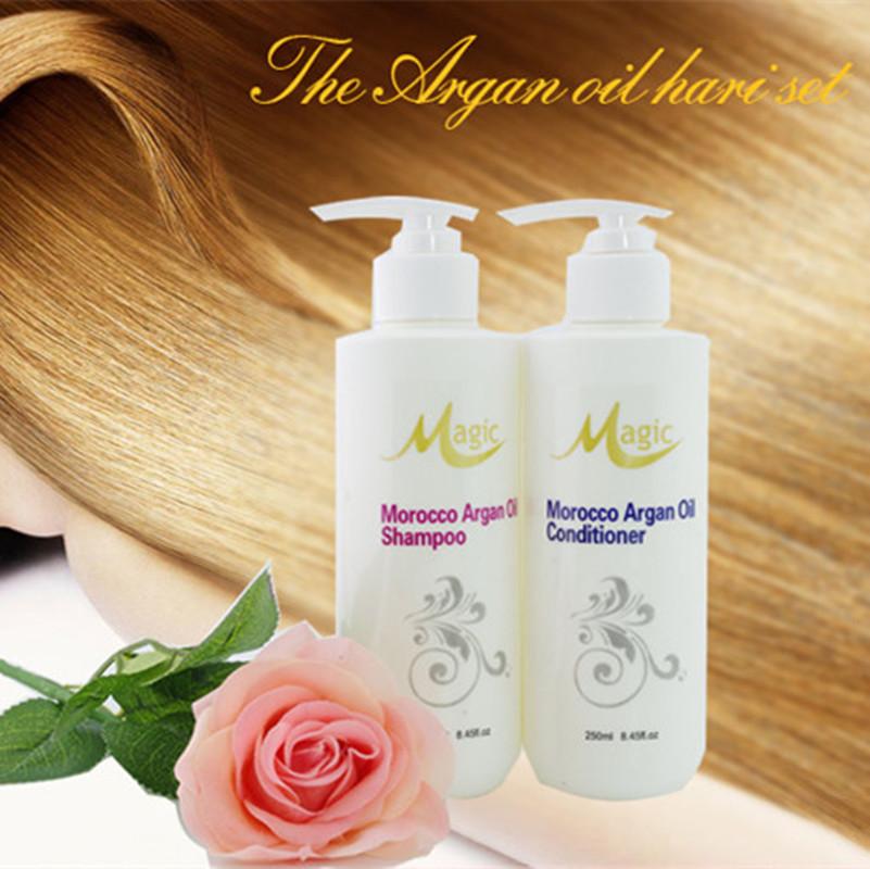 Moroccan Argan Oil shampoo conditioner set hair repair hair smoothing hair mask for dry hair care