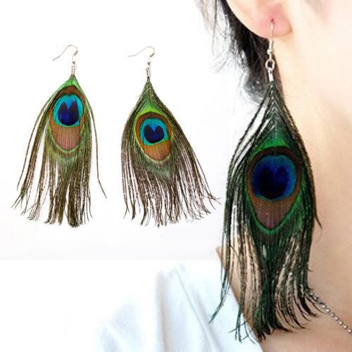 Серьги висячие Earrings Peacock Earrings серьги висячие vintage style pentacle earrings