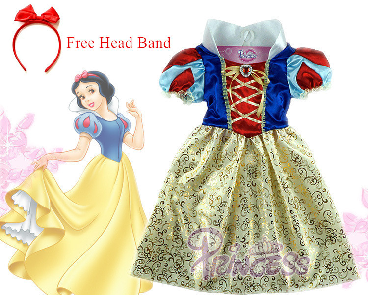 Гаджет  Snow white Dress kids infant party dress girls costume child vestidos infantil de festa meninas Blancanieve fantasia de princesa None Детские товары