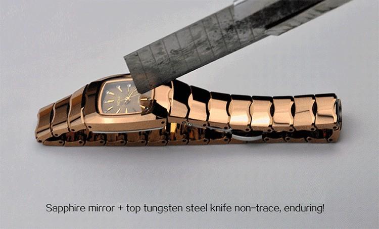 Марка Mstre стали вольфрама мода роскошные свободного покроя часы женские кварцевые алмаза наручные часы сапфир алмаз календарь водонепроницаемый