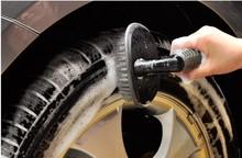 Car Rim Wheel Tire Brush Flexible SOFT GRIP WHEEL DETAIL Tire Brush Washing Brush(China (Mainland))