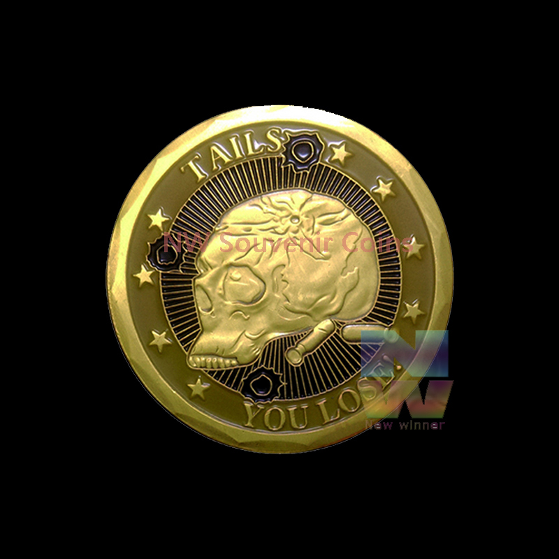 100PCS/lot 2015 New Arrived Death or Live Skeleton Coin Sniper gold plated metal Army Challenge Coin Free Shipping(China (Mainland))
