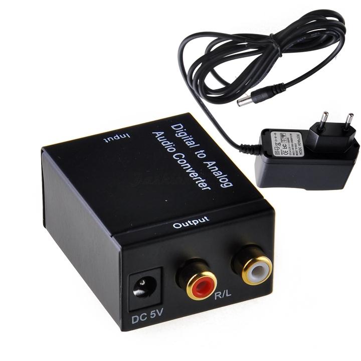 Converters Audio Converter Digital Optical Coaxial RCA Toslink to Analog Audio Converter Adapter EU Conversores de audio SJM(China (Mainland))