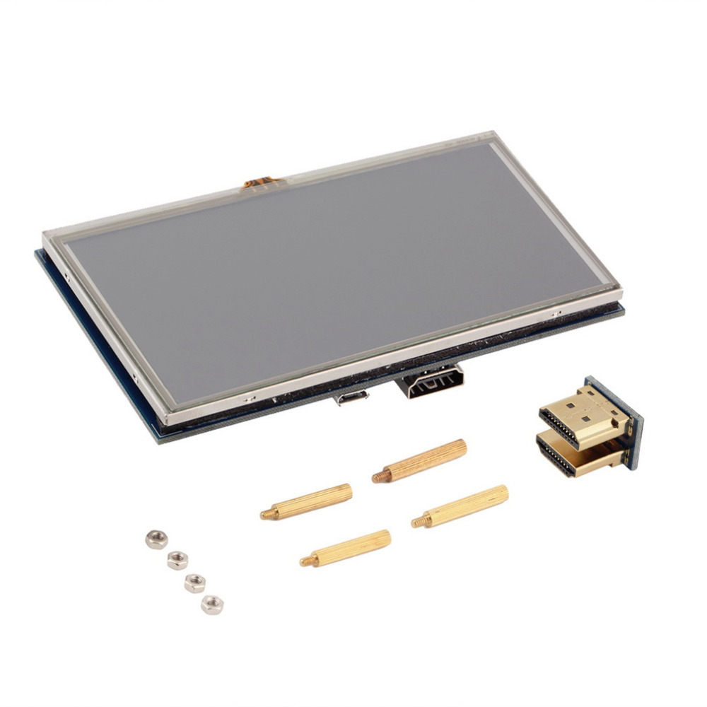 5 inch 800x480 Touch LCD Screen 5 Display For Raspberry Pi Pi2 Model B A Worldwide