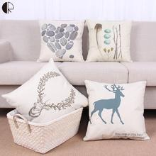 Europe Nordic Deer Animal Throw Pillow Without Inner 45x45cm Sofa Cushion For chair Love Linen Capas De Almofada Cojin HH1490