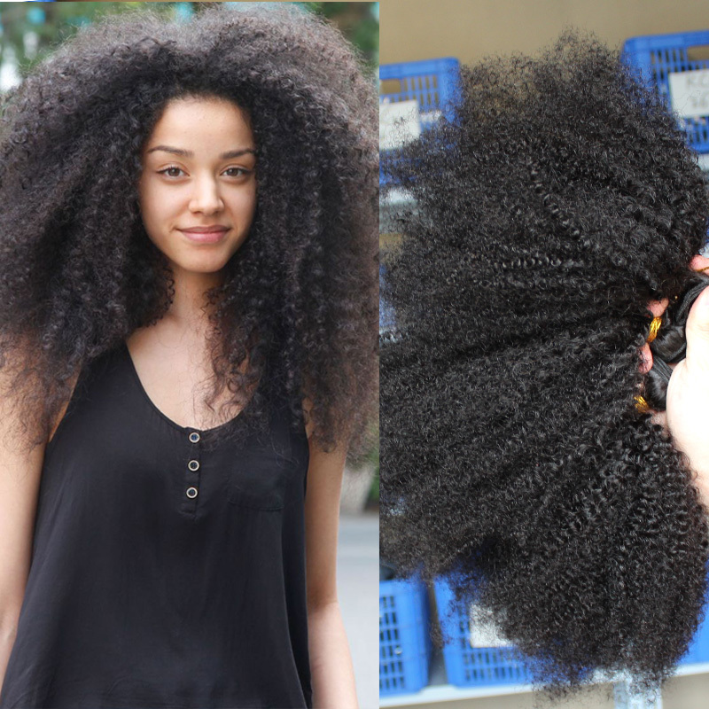 Rosaqueen hair products 6A cheap Mongolian kinky curly hair 3pieces/lot afro kinky curly virgin hair natural black hair weaves(China (Mainland))