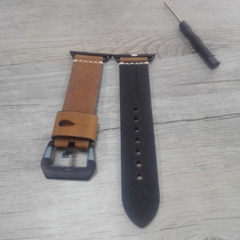 Натуральной Кожи ручной работы 38 ММ 42 ММ Apple Ремешок Для Часов, с Металлическим Адаптером Для Iwatch Apple Смотреть