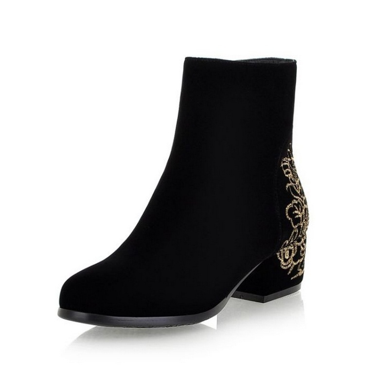 2014 new autumn and winter women embroidered boots british retro shoes martin boot warm shoes A182<br><br>Aliexpress