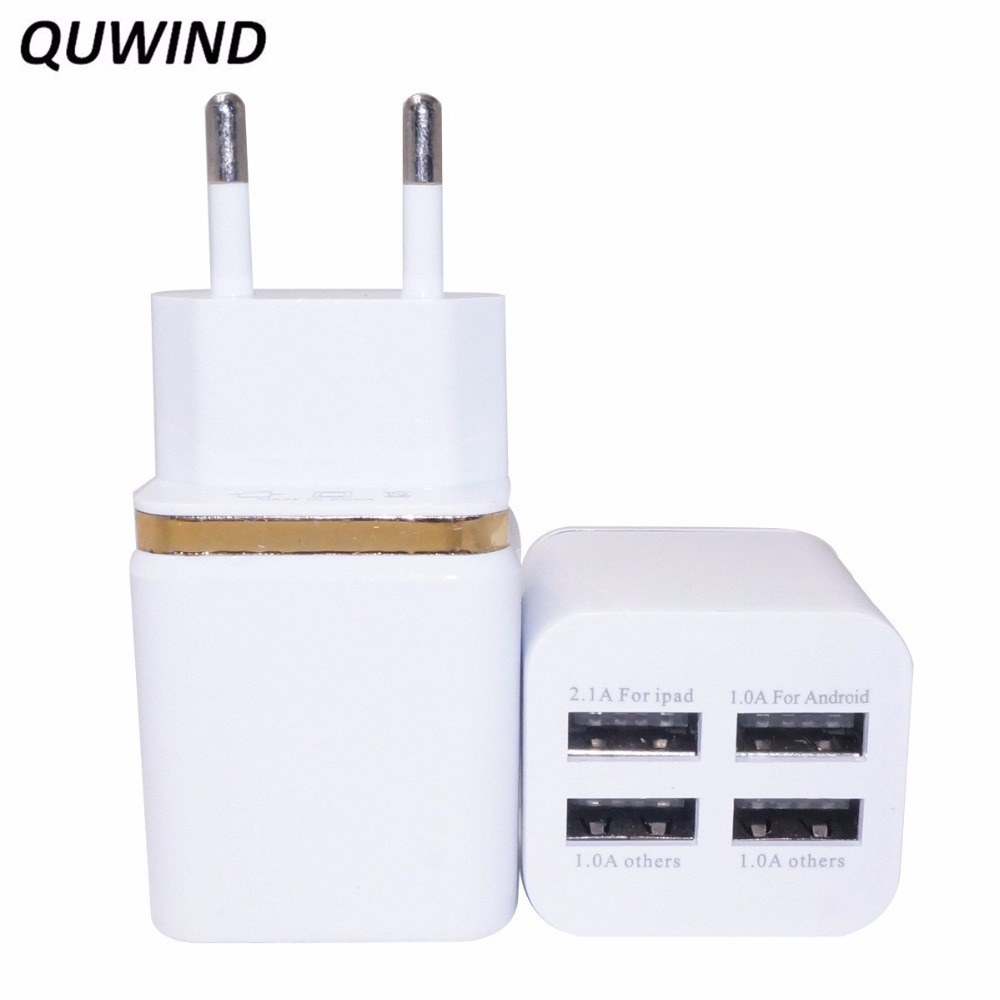 QUWIND 3A 4 Port USB 5V Wall Charger Adapter for iPhone Phone Tablet EU Plug(China (Mainland))