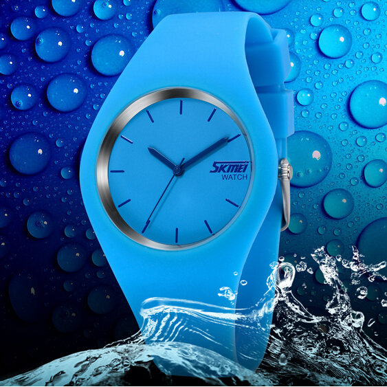 Fashionable And Casual SKMEI Classic Trend Ponder Life Jelly Contracted Pointer Couples Watch Waterproof Watch One Watch(China (Mainland))