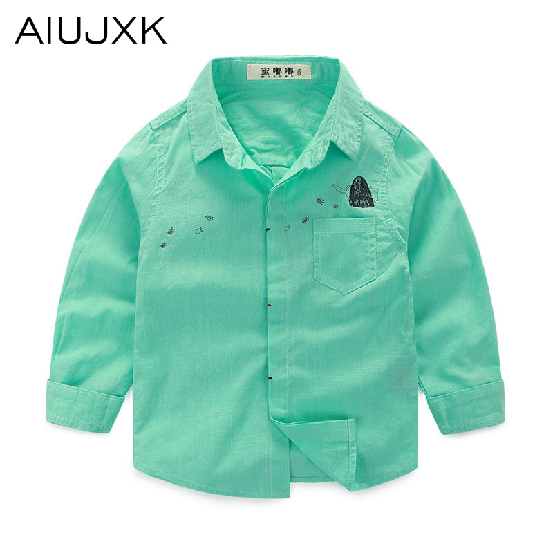 2016 Spring New Children'S Shirt Clothing Children'S Casual Fashion Shirt Collar Shirt Boys 100%Cotton Shirts OUMU58(China (Mainland))