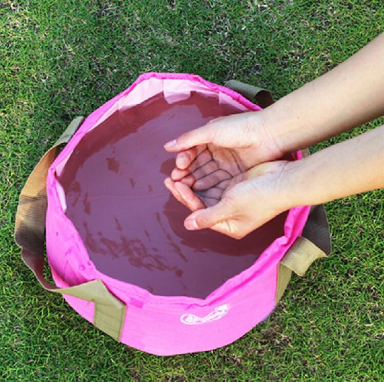 портативный складной открытый бассейна углубили сгущаться ультралайт умывальника 15 л кемпинг Пешие прогулки