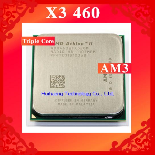 Lifetime warranty Athlon II X3 460 3.4GHz 1.5MB Triple Core desktop processors ADX460 CPU Socket AM3 938 pin Computer(China (Mainland))