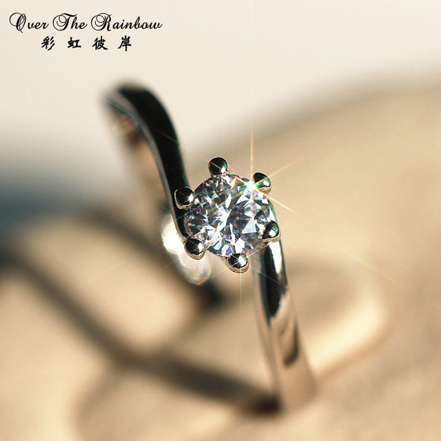 30 zircon ring female ring finger ring married hearts and arrows accessories