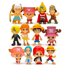 Buy One Piece Figure Zero Monkey D Luffy Brinquedos PVC Action Figure Toys Model Collection Kids Toys 12 Pcs/Set for $7.45 in AliExpress store