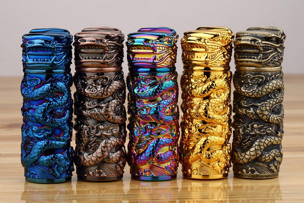 ถูก มาถึงแฟชั่นใหม่โลหะusbเบาชาร์จอิเล็กทรอนิกส์ทรงกระบอกรูปแบบมังกรซิการ์เบาเบาwindproof
