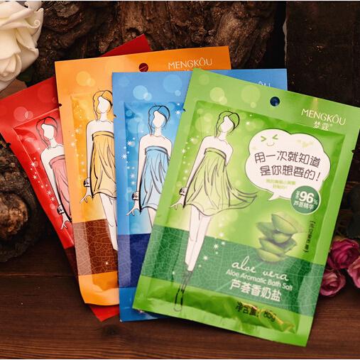 1 Bag Aromatic Perfumed Bath Salt Body Scrub Milk/Rose/Aloe/Sea Horse Body Exfoliator Anti Acne Goose Skin Treatment 85g M3154