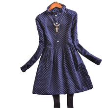 Plus Size Women Clothing Autumn Loose Long-Sleeved Dress Female Clothes For Lady Long Sleeve Casual XL-5XL(China (Mainland))