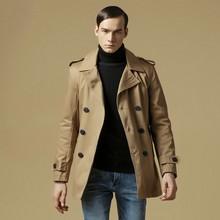 Autumn/Winter Men Slim Fit Jacket  Coat British Style Men Trench Coat Jaqueta Masculina Fashion Sobretudo Masculino Casacos(China (Mainland))