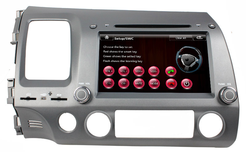 """8"""" Car Autoradio GPS for Honda Civic left driving DVD+Analog TV+BT+Game+GPS+PIP+Rear Review+IPOD+Touch screen 3G Free shipping(China (Mainland))"""