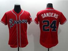 hot Mens 6 Bobby Cox 10 Chipper Jones 24 Deion Sanders Jerseys color white gray red blue green top quality(China (Mainland))