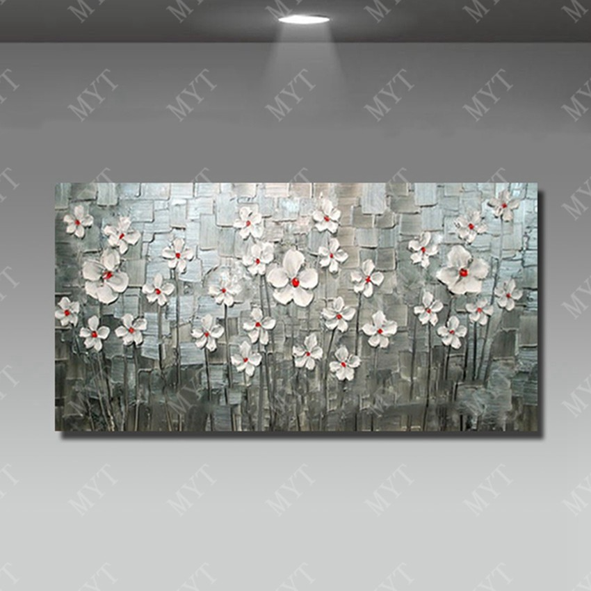 Buy 5d diamond painting beautiful flower tree canvas wall art painting knife oil painting for home sense cheap