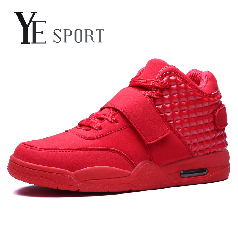 YE Sport New 2016 Basketball Shoes Men Medium Cut Air Sole Damping Basketball Sneakers Authletic Trainer Shoes For Adults