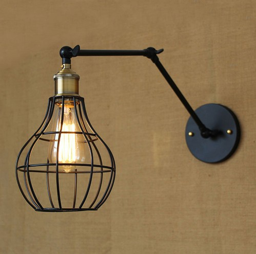 Фотография Edison Wall Sconce American Loft Style Industrial Vintage Wall Lamp Adjustable Iron Art  Wall Light Fixtures For Home Lighting