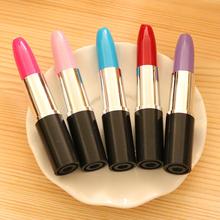 Kawaii ballpoint Pen lipstick pen pink/ blue School Supplies Korean Stationery novelty items ball pens Free shipping 407(China (Mainland))