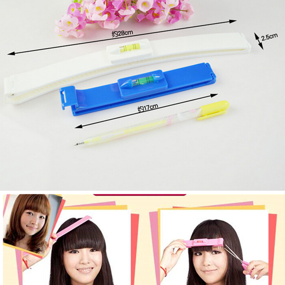 2pcs/sets Pro Home DIY Hair Cutting Guide Layers Bang Styles Scissors Bangs Personal Hairdressing Cutting Styling Tools ND055(China (Mainland))