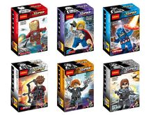 Wholesale Decool Building Blocks Super Heroes MiniFigures Avengers 2 Iron Man Thor Black Window Soldier Captain America Figure