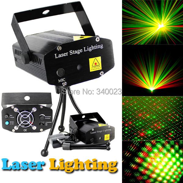 Free Shipping Hot Mini Projector R&G DJ Disco Light Stage Xmas Party Laser Lighting Show DJ-BK(China (Mainland))
