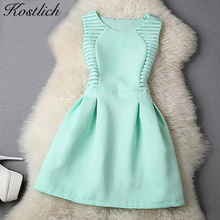 Buy Kostlich Women Evening Party Dresses 2017 Elegant Summer Dress A-Line Lace Bodycon Casual Mini Dress Sundress Vestidos Clothes for $10.90 in AliExpress store