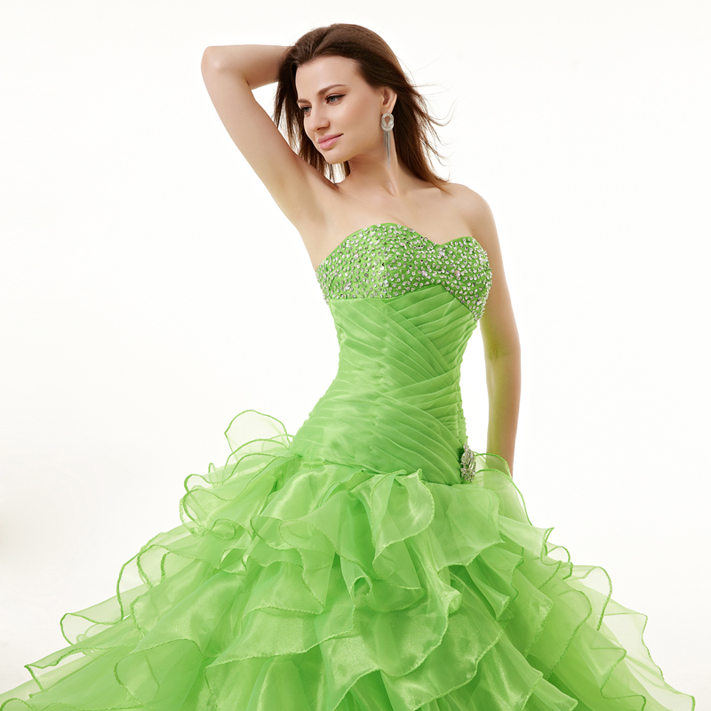 green wedding gown online