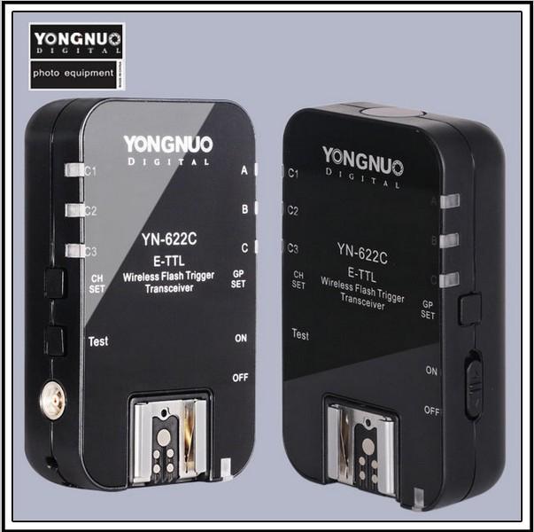 2016 YN-622C Wireless ETTL HSS 1/8000S Flash Trigger 2 Transceivers 1100D 1000D 650D 600D 550D 7D 5DII 40D 50D(China (Mainland))