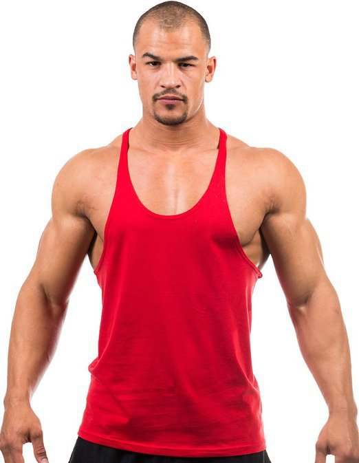 Golds gym stringer tank top men bodybuilding clothing and for Dress shirts for athletic guys