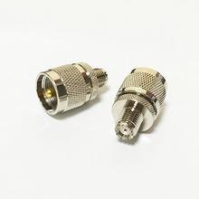 Увч вилочная часть вилка переключатель MINIUHF женское джек RF коаксиальный адаптер конвертер прямой Nickelplated