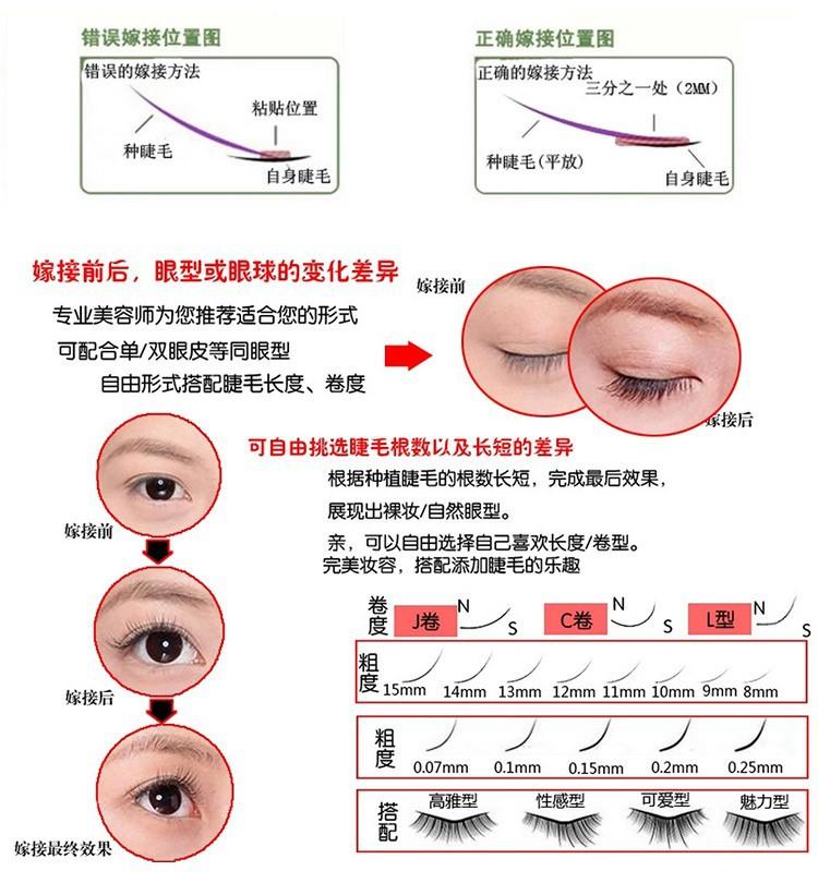 Human Hair Eyelashes 0.15mm C Curl Black Natural Individual False Eyelash Eyes Tools 8/10/12mm