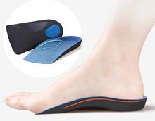 Half arch support orthopedic insoles for flat foot correct 3/4 length orthotic insole feet care health orthotics insert shoes