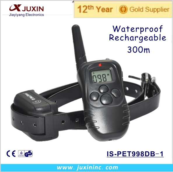 Rechargeable Waterproof LCD Electronic Shock Remote Dog Collar, Electric training collar(China (Mainland))
