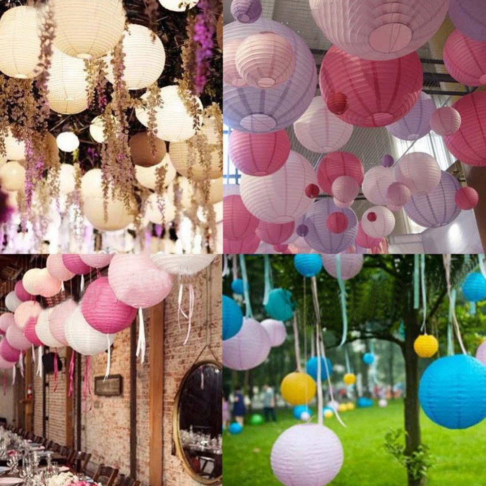 "Multicolor Round Chinese Paper Lanterns Wedding Party Decoration 6"" 8"" 10"" Free Shipping V1NF(China (Mainland))"