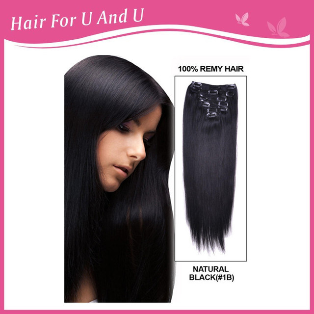 22 9 piece silky straight clip in indian remy human hair