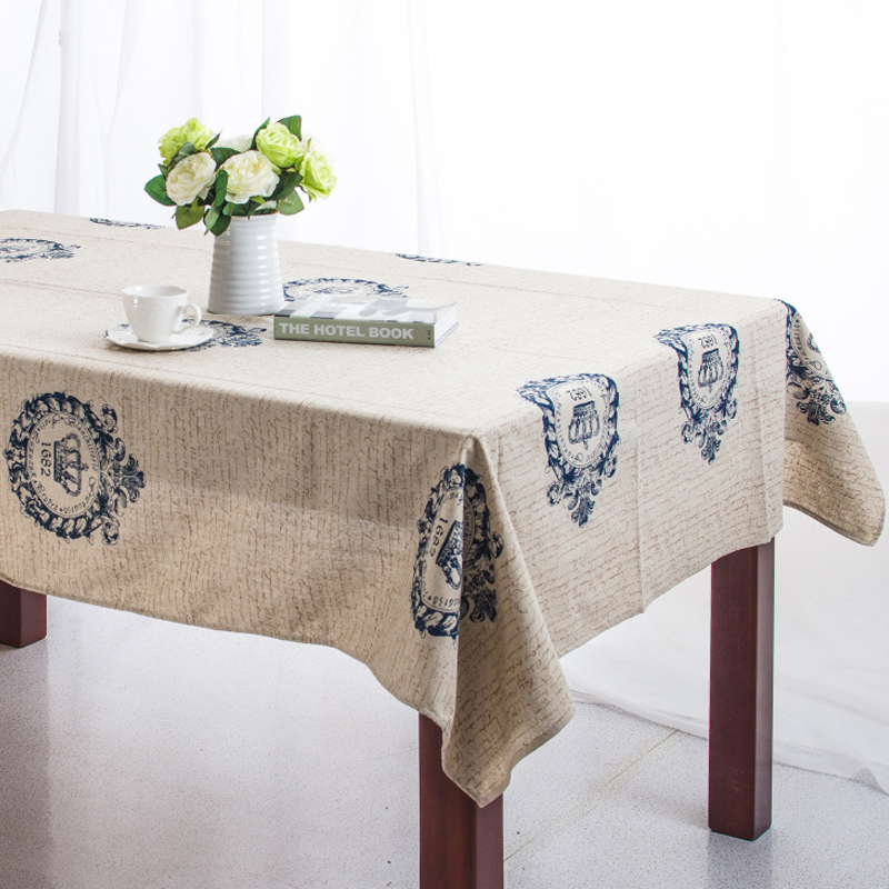2015 retro Vintage crown linen table cloth coffee side table towel tablecloth shabby chic home decoration/toalha de mesa kazza(China (Mainland))