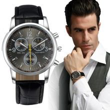 Splendid Luxury Fashion Faux Leather Mens Quartz Analog Watch Male Boy BusinessMan Watches Mechanical