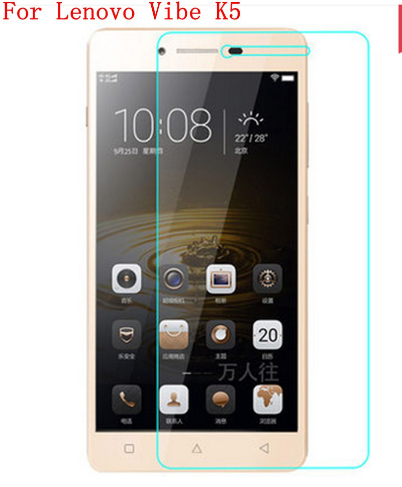 10PCS For Lenovo Vibe K5 Phone Premium Glass Tempered Protector Film Guard Ultra Thin With Dust Absorb Wipe Real Tracking(China (Mainland))