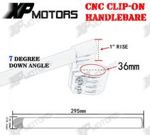 New Arrived 36mm CNC Clip Ons Riser Handlebars 1 Raised Universal Fit For 36mm Motorcycle Forks