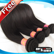Bowin Hair Products Grade 5A Virgin Peruvian Straight Hair 4pcs lot 100% Human Hair straight hair extensions On Sale(China (Mainland))