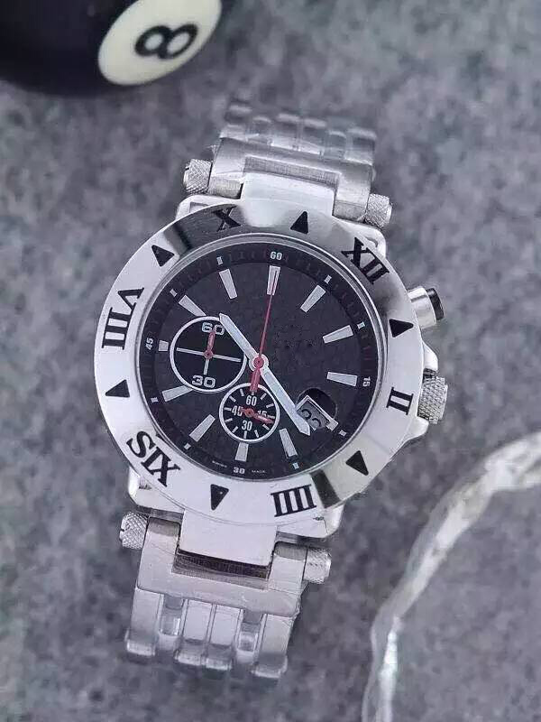 Free shipping 2015 leisure fashion classic imported quartz stainless steel men's watch(China (Mainland))